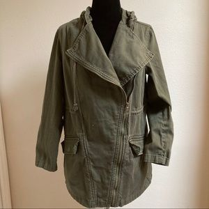 Old Navy Olive Green Military Jacket with Zipper
